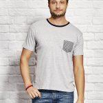 t-shirty z kieszonką męska koszulka