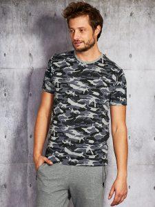 wzorzyste męskie T-shirt