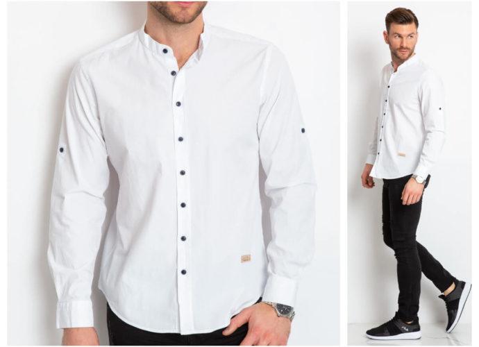 Biała koszula męska ze sklepu ebutik.pl