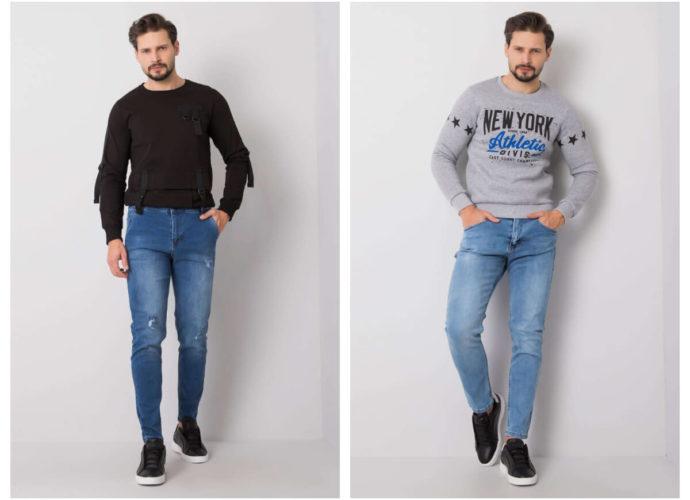 Klasyczne niebieskie jeansy męskie