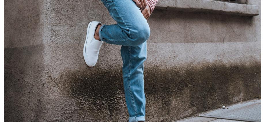 Klasyczne niebieskie jeansy męskie na co dzień