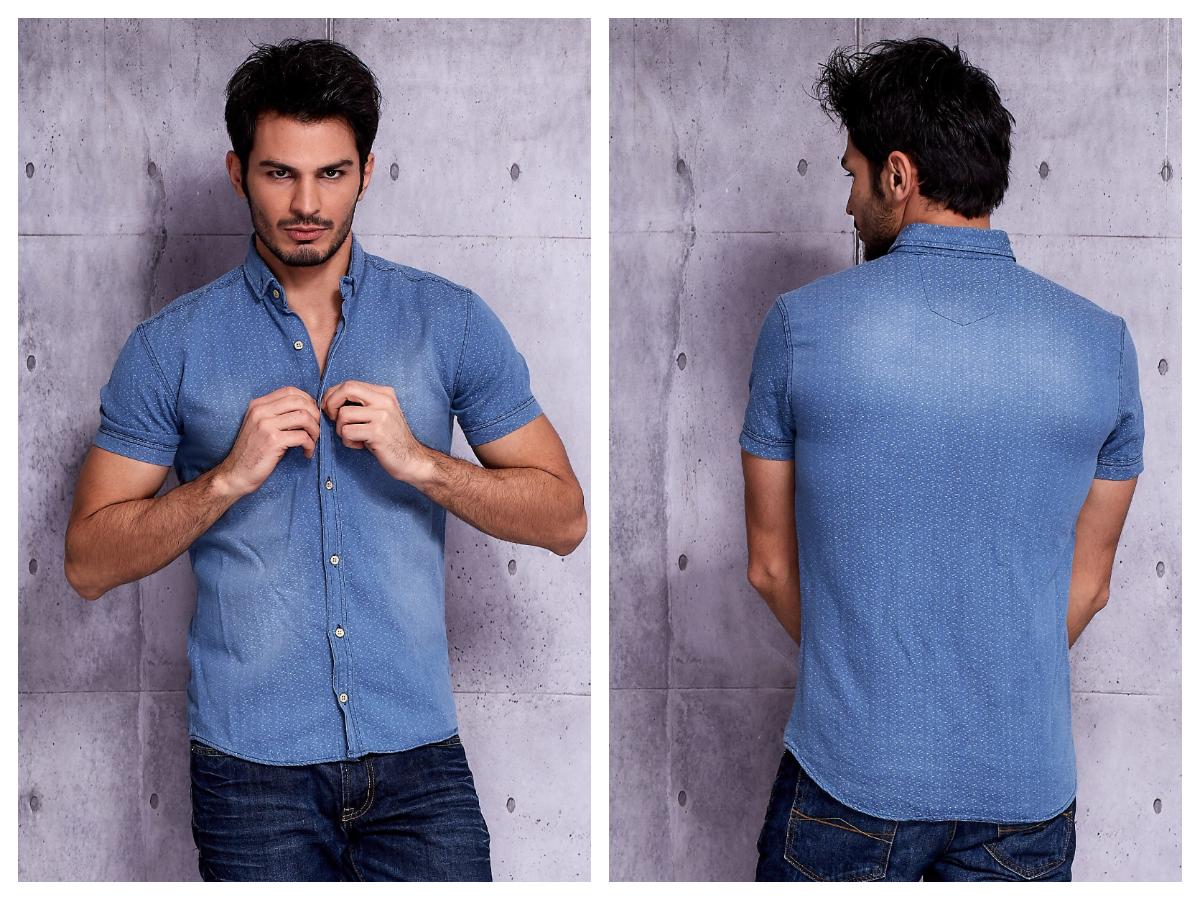 Jeansowe koszule z krótkim rękawem