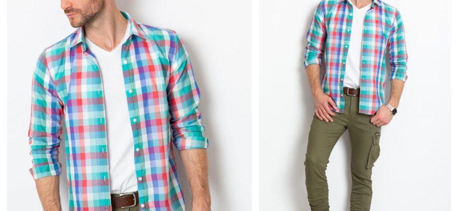 Męskie koszule w kratę w codziennym looku